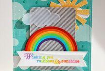 Cards - rainbow, sky
