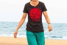 Womens ChillFish Design Sustainable T-shirt Collection / The complete sustainable T-shirt collection for Women by ChillFish Design. All Available on : http://www.chillfishdesign.nl/