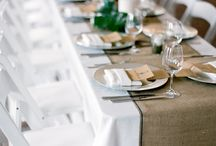 Rustic Wedding / Different things that we love about Rustic Weddings. Isn't burlap just so rustic and beautiful? It makes anything look elegant and chic!
