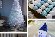 Cool Ice Theme 2017 / Turn your home into a winter wonderland this year with pure white colours, snow designs & modern metallics, providing an elegant frozen touch. This collection includes pre-lit acrylic table and tree decorations.