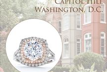 Ring Styles by DC Neighborhood / Tiny Jewel Box is the area's oldest independently owned jeweler, and we're proud to call Washington, D.C. our home for the past 80 years. To pay homage to our hometown, we've matched some of our favorite styles to the city's storied neighborhoods.