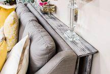 Mobiletto-mensola dietro il divano