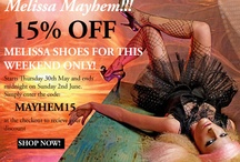 Melissa Mayhem! / Get 15% Off Melissa Shoes until Sunday 2nd June! Shop all of the Melissa collections on our website today!   http://www.the-dressingroom.com/shop-by-brand/melissa / by The Dressing Room Boutique