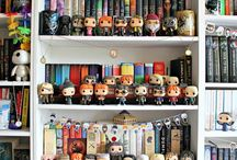 Bookshelves,funkopops,candles