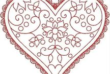 Redwork and stitchery