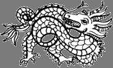 Dragon / Years: 1904, 1916, 1928, 1940, 1952, 1964, 1976, 1988, 2000, 2012 / by Aligned Signs