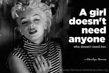 Marilyn Quotes / My whole like I have been obsessed with Marilyn Monroe.... A woman so beautiful, wise beyond what she let on.... and gone to soon.