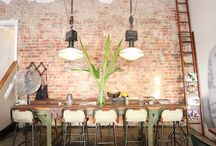 Semi Industrial, Shabby Chic and Rustic Style / An eclectic mix of interior design and furniture that celebrates re-cycling, lived-in looks and semi industrial furniture.