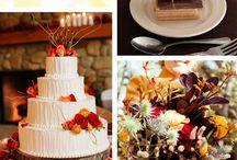 Autumn wedding ideas / autumn theme orange, brown, green, red& yellow