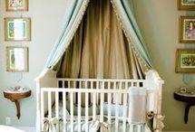 Mint, aqua baby room