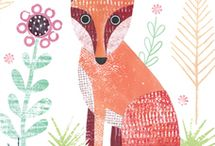 cartoline volpe fox räv Fuchs лисица / cartolina poster