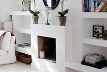 Tv and fire place