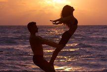 Couple acrobatics