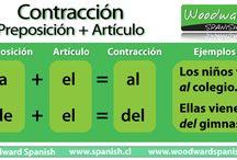 Contracción AL y DEL
