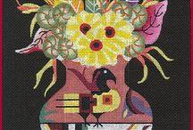 Štvorce kvety