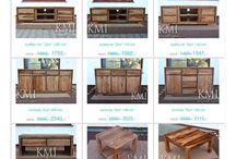 go natural ! / Nowoczesne i stylowe meble z jasnego palisandru i mango. Drewno połączone z metalem, nowoczesne i deignerskie.