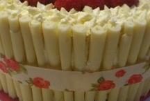 Chocolate cakes. Kit Kats, m&ms / Cakes made with kit kats, chocolates, maltesers, flakes.
