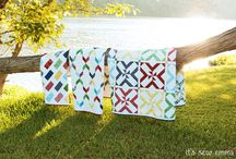 """""""Quilted Living"""" Book / Casual and fun quilts designed from the Summer Cottage Collection by Gerri Robinson for Red Rooster Fabrics featured in the Quilted Living book published by It's Sew Emma."""