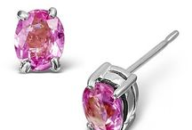 Popular Pink Sapphire Earrings / Glamorous in stylish pink, sapphires from Thailand are guaranteed to sparkle and delight...
