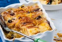 Bread and butter pudding and French Toast