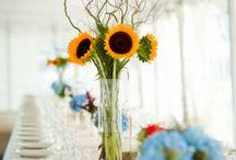 Sunflower centrepieces