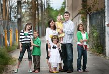 Portrait family poses
