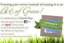Going Green / MirrorMate frames are eco-friendly both in the way they're made (mostly with medium density fiberboard comprised of recycled sawdust) and they help save and beautify bare mirrors!  / by MirrorMate Frames