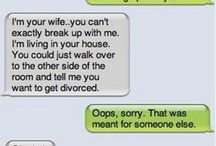 Funny Texts / Breaking up over text? Yeah, not that easy.