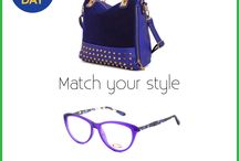 Match your style / match your eyewear with your accessories.