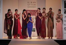Kiran Uttam Ghosh at WIFW AW'14 / Mesmerising Ikkat embroidery and asymmetrical cuts was a treat for the eyes at Kiran Uttam Ghosh's show.