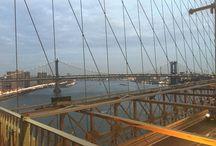 The Brooklyn Bridge / I took a Brooklyn Bridge walk at sunset and this is what happened.