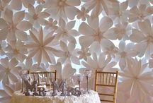 Esküvői papír dekor
