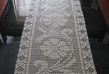 caminhos de mesa de crochê!