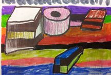 Liquorice Allsorts / Learning perspective and colour is fun when you have Bassetts Liquorice Allsorts around!