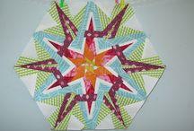 Patchwork couture sur papier - Paper piecing blocks