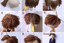 Ami dolls and figures / Amigurumi crochet figures, faces how-to.