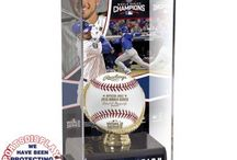 2016 Chicago Cubs World Series Champions Baseball Display Cases