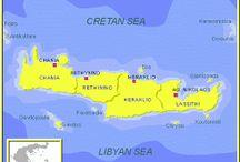 1. E//Grecia//Crete island / Isla de Creta Creta es la más grande de Grecia y la quinta del Mediterráneo. Tiene una longitud de 360 Km, Su ancho oscila entre los 60 y los 13km.