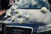 dekoracje samochodu na ślub / dekoracje samochodu na ślub i wesele. Kwiaciarnia 7 Kwiatów z Lublina. www.7kwiatow.pl / www.sklep.7kwiatow.pl