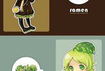 chibi with food