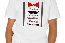 """Toddler & Kids' Mustache T-Shirt for Big Brothers / I love this t-shirt: """"If you mustache, YES! I'm Going to be a BIG Brother!"""