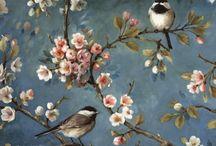 çiçek ve kuş sanatı
