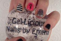 Gel-Licious Nails by Emma / My nail art using Gelish colours and Konad nail plates and special polish :o)