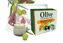 Cosmetics / Natural cosmetics with organic olive oil.