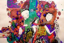 Natalia Pastuszenko / Ukończyła wydział architektury na Akademii Sztuk w Kijowie. W twórczości Pastuszenko widoczne są wpływy ludowe oraz  częste nawiązanie do motywów roślinnych i zoomorficznych. Ogrom barw i baśniowa atmosfera  tych dzieł  powodują, że niosą one ze sobą ogromny ładunek emocjonalny.