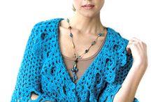 Lace ruffle cardigan / Crochet