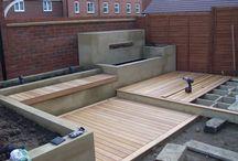 Great deck / concrete planter set out
