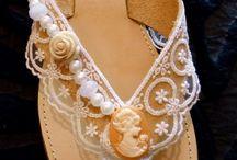Wedding Handmaid leather Romantic sandals / https://www.facebook.com/theanoMarket/