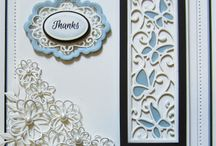 "Sue Wilson / Cards created using dies and embossing folders by Sue Wilson ""Creative Expression"""