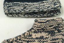 Knitted boot socks girls / Winter socks boot